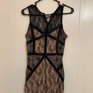 XXI Peach 🍑 Black Lace dress